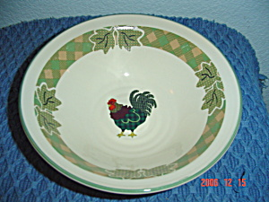 International Julie Ingleman Rooster Morn Cereal Bowls