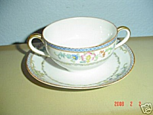 Noritake Nippon The Kiva Creme Soup Cups And Saucers