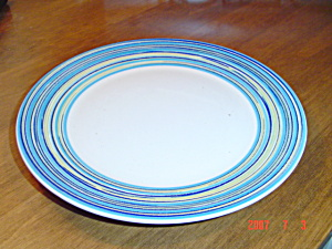 Pagnossin Blue Stripe And White Chargers/dinner Plates