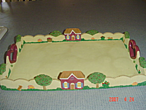 Heart And Houses Serving Tray - Really Neat