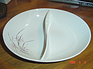 Syracuse China Flame Lily Divided Serving Bowl