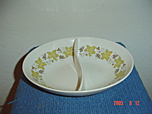 Syracuse China Carefree Vintage Divided Serving Bowl