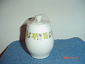 Syracuse China Carefree Vintage Covered Sugar Bowl