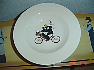 Oneida Kitchen Chefs To Go #1 Rimmed Soup Bowl