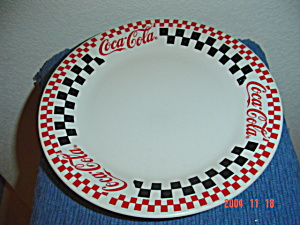 Gibson Coca Cola Dinner Plates - Black Checks