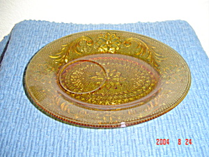 Sandwich Glass (Tiara) Snack Tray Depression Era