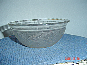 Sandwich Glass (Tiara) Small Serving Bowl - Crystal