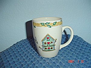Thomson Pottery Birdhouse Tall Mugs
