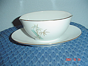 Noritake Oriental Gravy Boat W/attached Tray