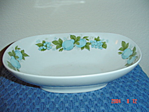 Noritake Blue Orchard Oval Veggie Bowl