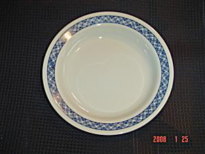 Corelle Blue Plaid Flat Rimmed Soup Bowls (Image1)
