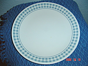 Corelle Gingham Blue Lunch Plates