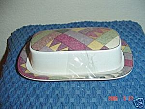 Mikasa Studio Nova Palm Desert Butter Dish (Image1)