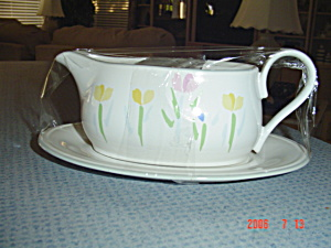 Mikasa Studio Nova Fresh Mint Gravy Boat & Under Plate