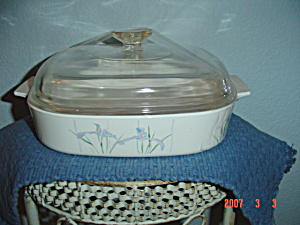 Corning Ware Shadow Iris 10 In. Covered Casserole