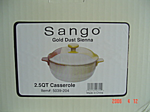 New Sango Gold Dust Sienna 2.5 Qt. Covered Casserole