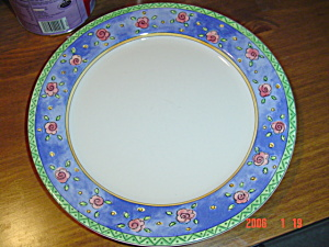 Sango Watercolors Blueberry Sky Dinner Plates