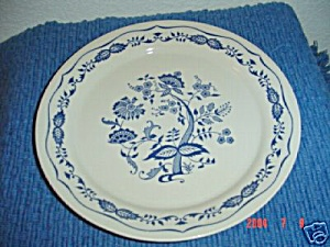 Corelle Blue Floral Lunch Plate
