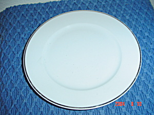Rosenthal White/silver Bread And Butter Plates