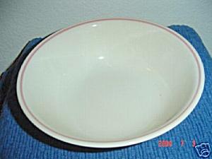 Corelle Tan/Pink Stripe Veggie Bowl (Image1)