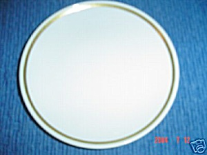 Centura Wide Gold Band Lunch Plates