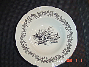 Tabletops Unlimited New England Toile Bowl - Pheasant