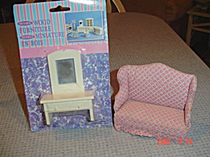 Doll House Furniture - Vanity And Love Seat