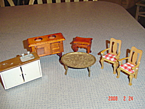 Doll House Furniture - 6 Pcs. Lot