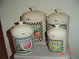 Susan Winget Vegetable and Fruit Canister PEARS ONLY for Tea (Image1)