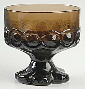 Franciscan Madeira Smoke Footed Sherbet Glasses