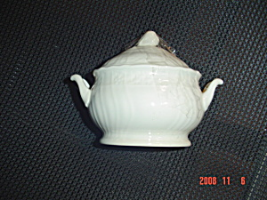 Mikasa Renaissance White Covered Sugar Bowl