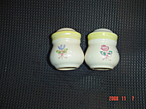 Pfaltzgraff Rosehaven Salt And Pepper Shakers