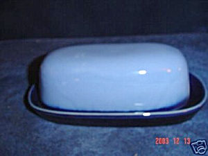 Sango Nova Blue Covered Butter Dish Cover Only