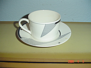 Christopher Stuart Angles Cup And Saucer