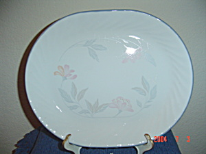 Corelle Pink Trio Oval Platter
