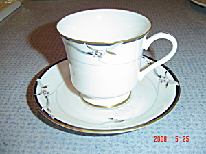 Gorham Manhattan Footed Cups And Saucers