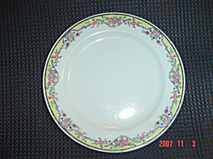 Haviland France Limoges Salad Plates - Yellow Edge