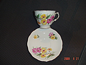 Colclough Floral Cup And Saucer