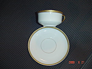 H and C Gold and White Saucer (Image1)