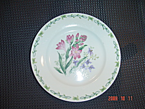 Thomson Floral Garden Salad Plates - Pink Flowers