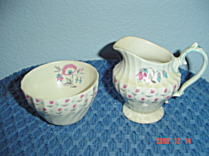 Myott Olde Chelsea Creamer And Sugar Bowl