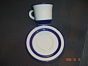 Noritake Primastone Fjord Cups And Saucers