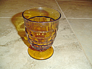 Whitehall Fostoria Indiana GlassAmber Rocks Glasses (Image1)