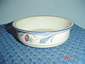 Lenox Poppies On Blue Soup/cereal Bowls