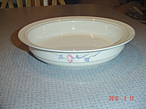 Lenox Glories On Grey Round Serving Bowl