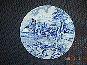 Myott-staffordshire Royal Mail Blue Bread And Butter Plates