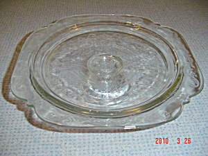 Indiana Glass Depression Madrid Pedestal Cake Plate (Image1)