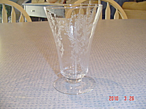 Beautiful Depression Glass Footed Tumblers