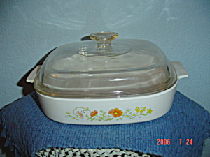 Corning Ware Wildflower 10 In. Covered Casserole