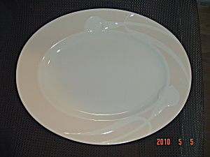 Mikasa Classic Peach Flair Oval Platter - Hard To Find